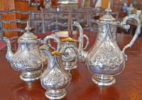 Early Victorian Sterling Silver Tea Service