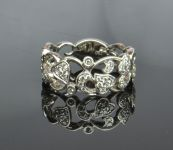 Heart and Scrolled Patterned Ring