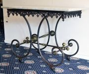 A French Wrought Iron Butchers Table