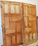 Pair carved pine Ottoman period doors