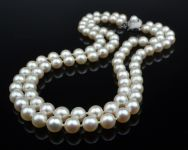 A Double strand of Akoya Freshwater Pearls