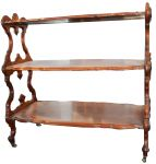 A Victorian Walnut Three Tier Dumb Waiter