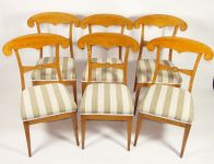 A Set of 6 Biedermeier Style Chairs,