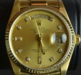 18ct Yellow Gold Rolex President, Oyster
