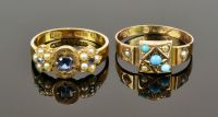 Two antique 15CT yellow gold Rings