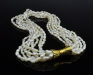 Seed pearl necklet and matched Bracelet