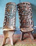 A Pair of West African Tribal Chairs