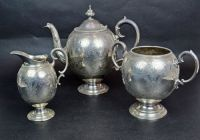 A Victorian Sterling Silver 3pc Coffee Service