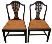 A Pair Mahogany Hepplewhite Style Chairs