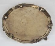 Mid to Late 18th Century Sterling Silver Salver