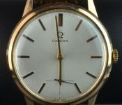 18ct Rose Gold Omega Gents Watch