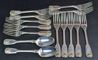 A Collection of Matched Forks and Spoons in