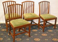 A Set of Four Sheraton Style Mahogany Chairs