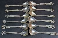 A Set of 12 J.A Linton Mixed Wildflower Sterling