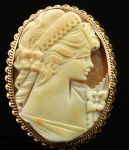 A Rare West Australian 9ct Cameo Brooch by