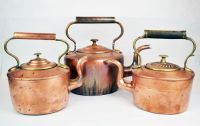 Three Copper Kettles