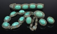 Matched Set of Silver and Turquoise Jewellery
