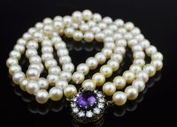 Double Strand of Cultured Pearls