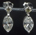 Diamond Drop Articulated Earrings