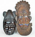 Two African Carved Wooden Tribal Masks