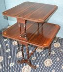 A rare Victorian, Rosewood Sutherland table