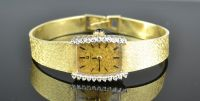 14ct Yellow Gold Ladies Cocktail Watch