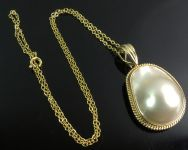 Large Mabe Pearl Pendant