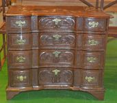 A Flemish Oak 4 Drawer Chest of Drawers