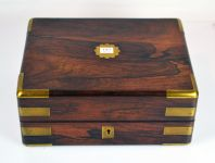 A Victorian Rosewood and Brass Bound