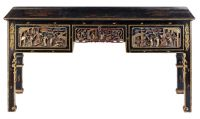 A Chinoiserie lacquer & gilt Console, featuring
