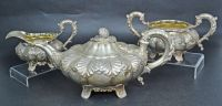 A William IV Sterling Silver 3pc Tea Set
