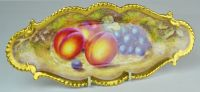 A Royal Worcester Fruit Painted Dish Signed