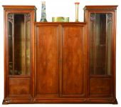 A French Art Nouveau walnut Bookcase in the