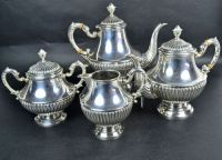 A William IV Style Sterling Silver 4pc Tea and