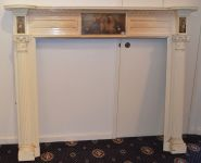 A Continental Painted Fire Surround