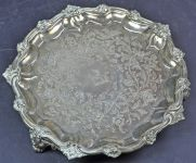 Victorian Period Sterling Silver Salver