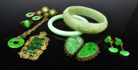 Assorted Silver and Jadeite Jewellery