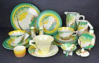 A Collection of Clarice Cliff Art Deco Ceramics