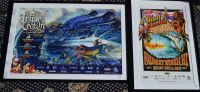 Two Framed Surfing Posters