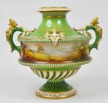 Royal Worcester two handle vase