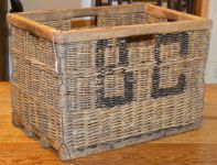 A French Cane Wine Crate