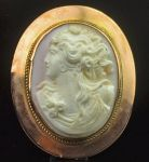 West Australian 9ct Cameo Brooch by Levinson